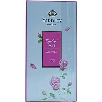 Yardley English Rose Luxury Soap 3 X 100 G Bar Soaps