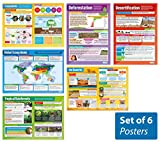 "Ecosystems - Set of 6 Geography Posters | Classroom Posters for Geography | Social Studies | Gloss Paper measuring 33"" x 23.5"", School Posters, Educational Charts, by Daydream Education"