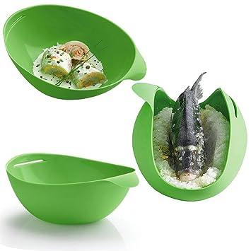 valink Gadgets de cocina de silicona peces - Cesta plegable ...