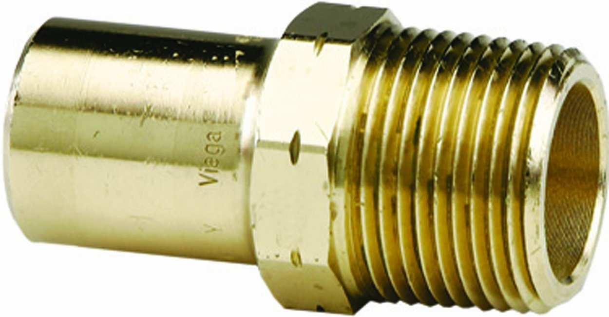 5-Pack Viega 23203 ProPress G Bronze Adapter with Male 1//2-Inch by 1//2-Inch FTG x Male NPT