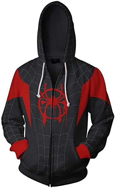 Cosplay Sudadera con Capucha Spider-Man Miles Morales (3XL ...