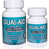 124 Guai-Aid® 600mg Ultra-Pure Expectorant Capsules - 1 bottle of 100 Includes & 24 Size Travel Bottle