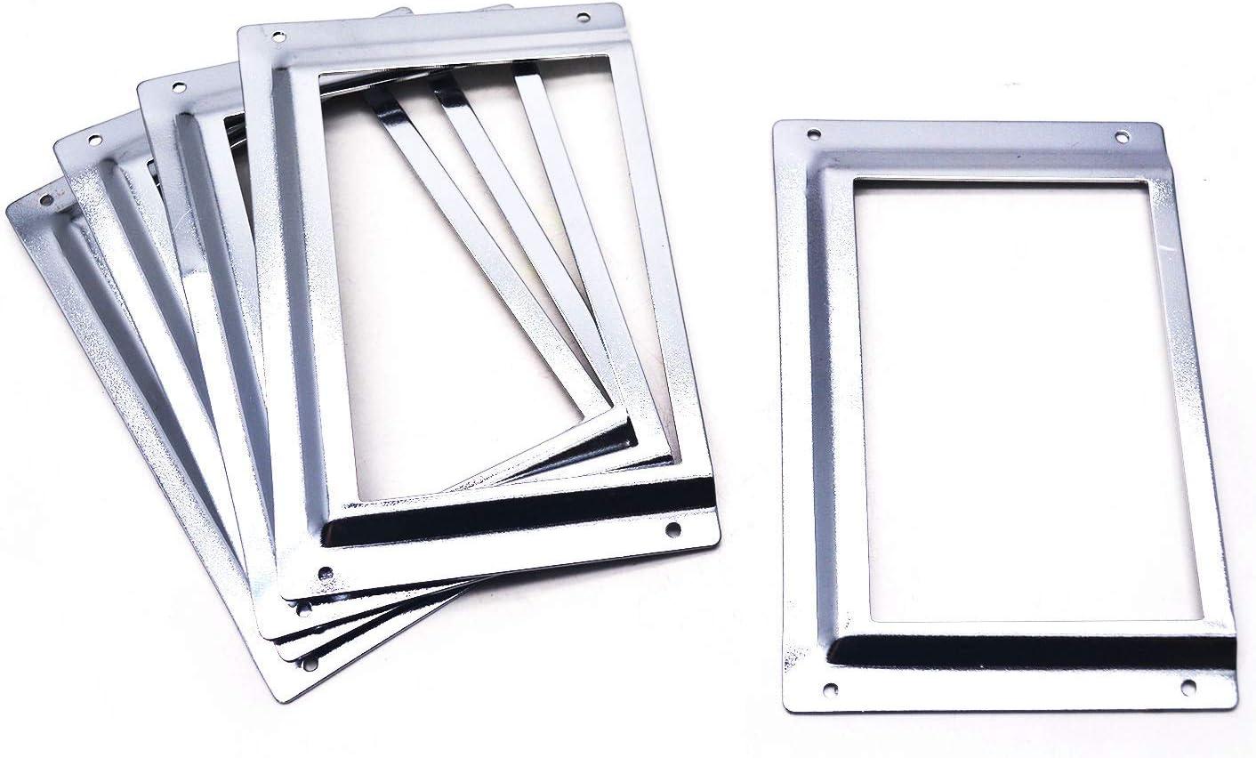 Tulead Drawer Lable Holders Iron Tag Holders File Label Frames Card Frame Holder Cabinet Name Plate Office File Shelves 5-Packs (114.6 x 75mm)