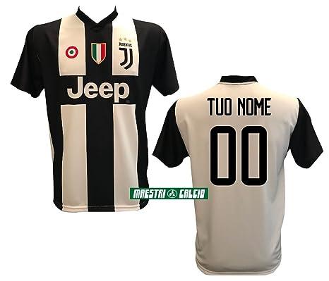 """54e29006dbf Maglia Replica Home BIANCONERA CASA Personalizzata Ufficiale """"Nome+Numero  Personalizzato Personalizzabile"""" F.C. Juventus"""