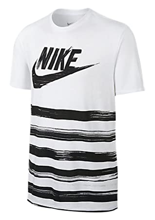 Nike tee-flow Motion Futura Men's T-Shirt multi-coloured Blanco / Negro