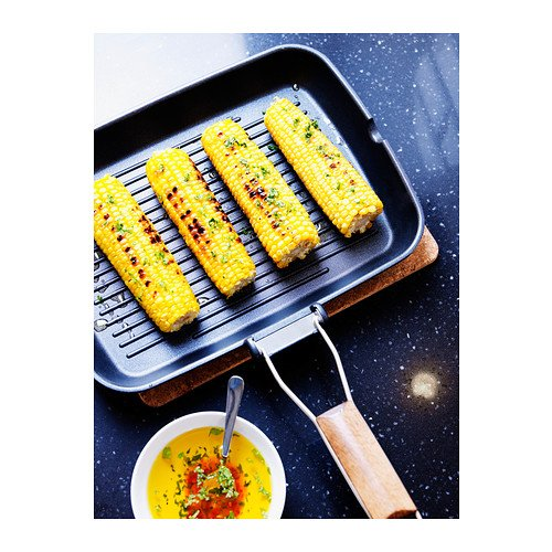 36x26 cm IKEA GRILLA black Grill pan