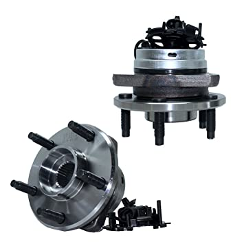 Detroit Axle - Pair Front Wheel Hub and Bearing Assembly w/ABS for - 06-12  Chevy Malibu w/ABS - [05-10 Pontiac G6 w/ABS] - 07-09 Aura - 08-10 Cobalt
