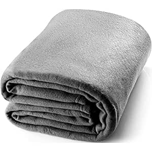 Queen Polar-Fleece Grey - Extra Soft Brush Fabric, Super Warm Bed, Lightweight Couch, Easy Care - by Utopia Bedding
