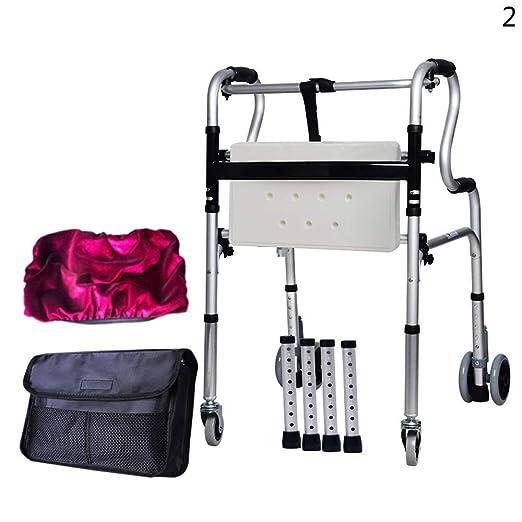 PMent YC8301 andador estándar para ancianos, con ruedas y ...
