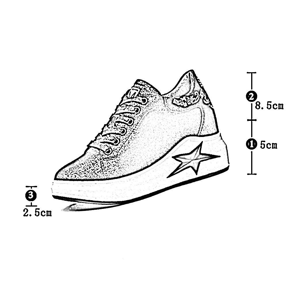 LIANGJUN Frauen Schuhe Schnürsenkel Turnschuhe Dicker Boden Boden Dicker Frühling Draussen, 2 Farben Erhältlich, 6 Größen (Farbe : Silber - grau, größe : EU36=UK4.5=L:230mm) Silber - grau f42a8e