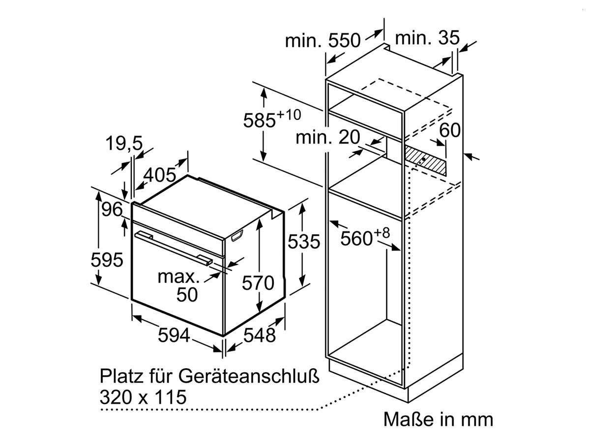 Bosch HBD632CS80 Cerámico Horno eléctrico sets de electrodoméstico ...