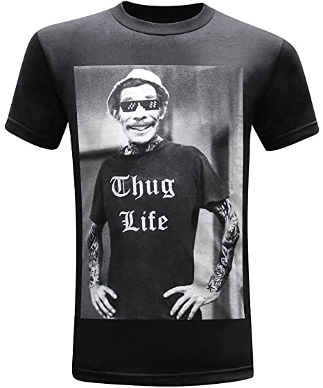 f817f961 Amazon.com: tees geek Don Ramon Thug Life Men's Funny T-Shirt: Clothing