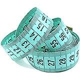 """Weilifang 150 cm / 60"""" Cuerpo Regla de medición de Costura a Medida de la Cinta métrica Suave Plana(Color Aleatorio)"""