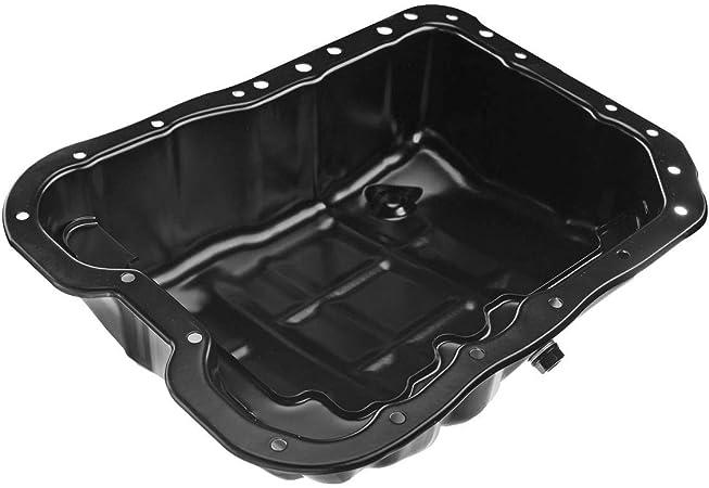 Engine Oil Pan W//Drain Plug for L4 2.0L 2.4L Sonata Tuscon Forte Magentis Optima Roondo Sorento Sportage 07 08 09 10 11 12 13 14 15 16 2007 2008 2009 2010 2011 2012 2013 2014 2015