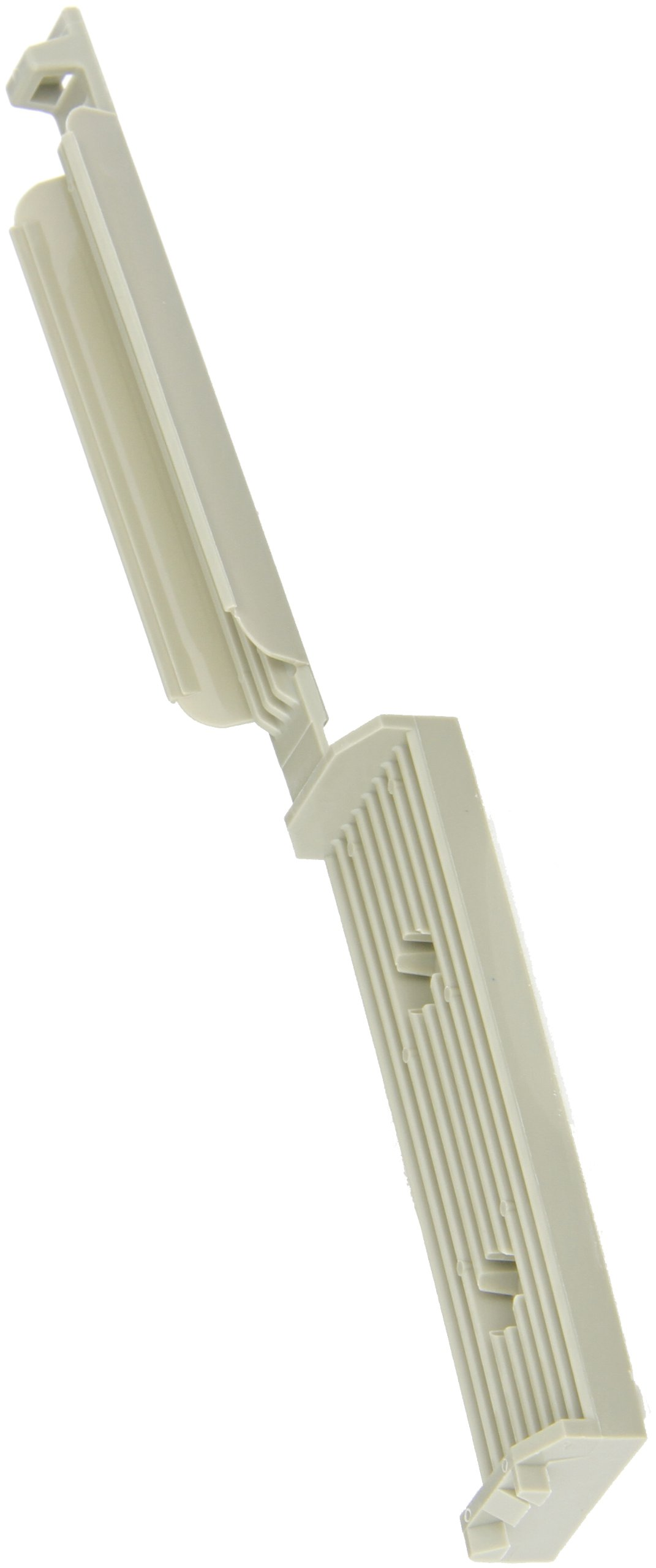 Panduit FCM3.25-A-L14 Latching Flat Cable Mount, Adhesive Backed, Rubber Adhesive Mounting Method, Gray, 1.50'' Hole Spacing, 3.38'' Cable Width, 3.38'' Width, 7.30'' Length (Pack of 50)