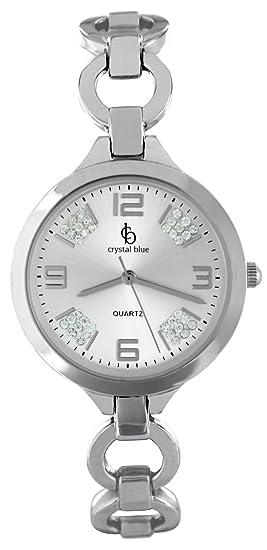 Crystal Blue de mujer reloj de pulsera mujer Reloj mujer Relojes funkelnder brillantes Reloj de pulsera