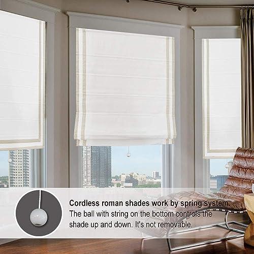 Artdix Cordless Roman Shades Blackout Window Shade