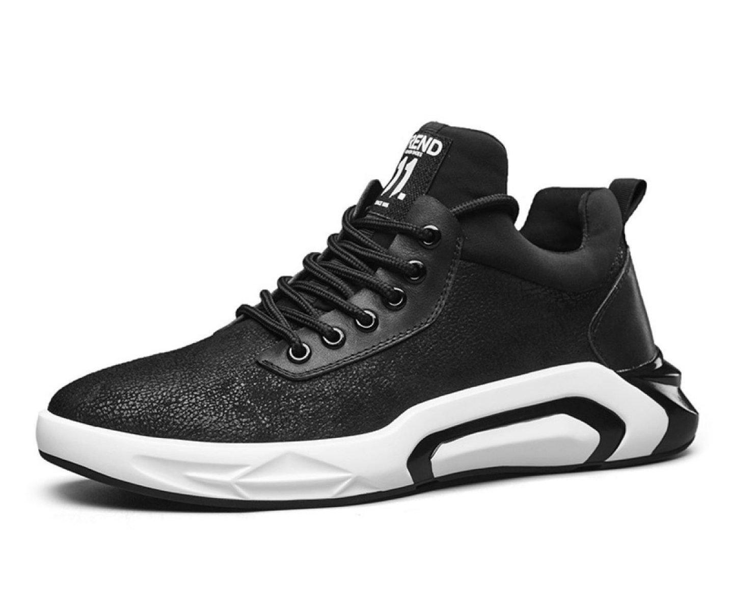 MUYII Zapatos De Cuero Oxfords Para Hombre Zapatos De Punta Llana Zapatos Deportivos De Deporte Casual Para Hombre Zapatos Antideslizantes,Black-EU41 EU41 Black