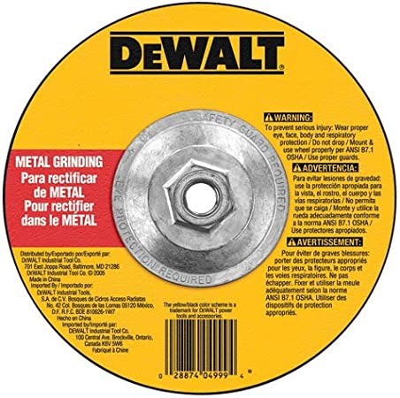 DEWALT DW4522 High Performance 1//8-Inch Metal Cutting and Grinding Wheel
