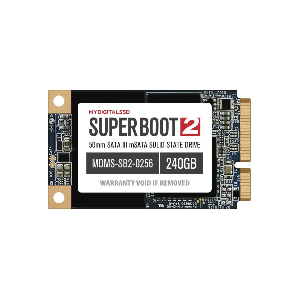 MyDigitalSSD Super Boot mSATA de 50mm 2 SATA III SSD Solid State ...