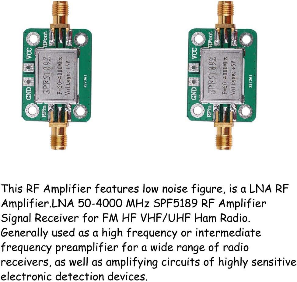 110dBm Low Noise Amplifier,1pc Low Noise Amplifier LNA 50M-4GHz NF=0.6dB RF FM HF VHF//UHF Ham Radio