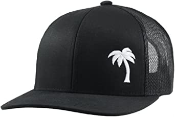 Vintage Trucker Sun /& Palm Tree Printed Flat Bill Beach Hat Snapback Cap AYO1102