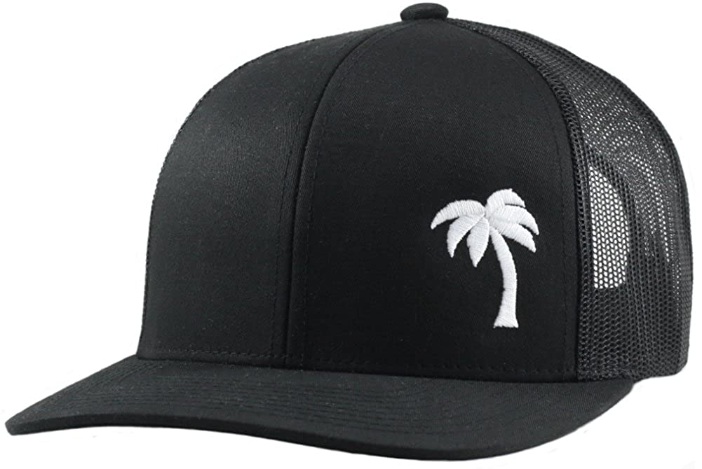 050e8e4bc4e17 Lindo Trucker Hat - Palm Tree Series (Black) at Amazon Men s Clothing store