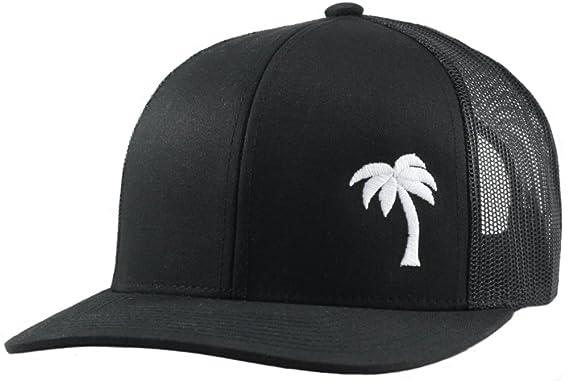 1d7a8b47edd403 Trucker Hat - Palm Tree Series - by Lindo - Black -: Amazon.co.uk: Clothing
