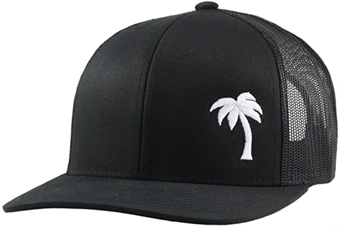 a531e88a0e2 Lindo Trucker Hat - Palm Tree Series - by (Black) at Amazon Men s ...