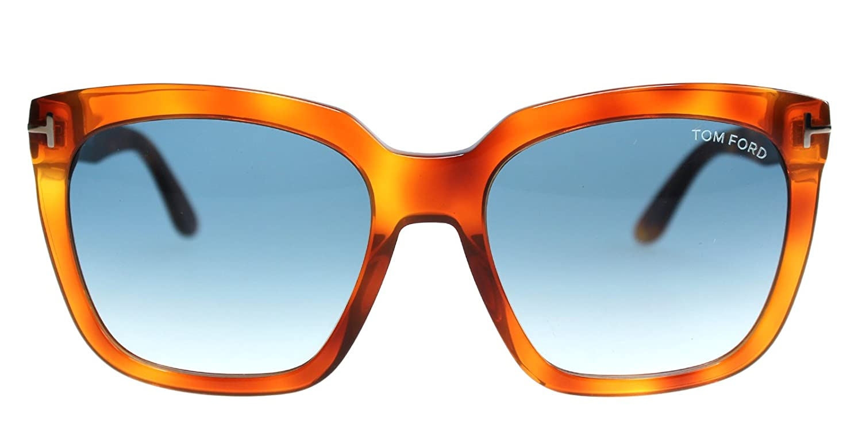 48a600e3bb764 Tom Ford FT0502 Amarra Sunglasses Light Havana w Blue Gradient Lens 53W  TF502  Amazon.ca  Clothing   Accessories