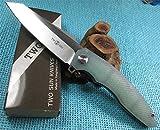 TwoSun Knives EDC Transparent G-10 Outdoor Bearings Folding Knife Zenith TS27-TT