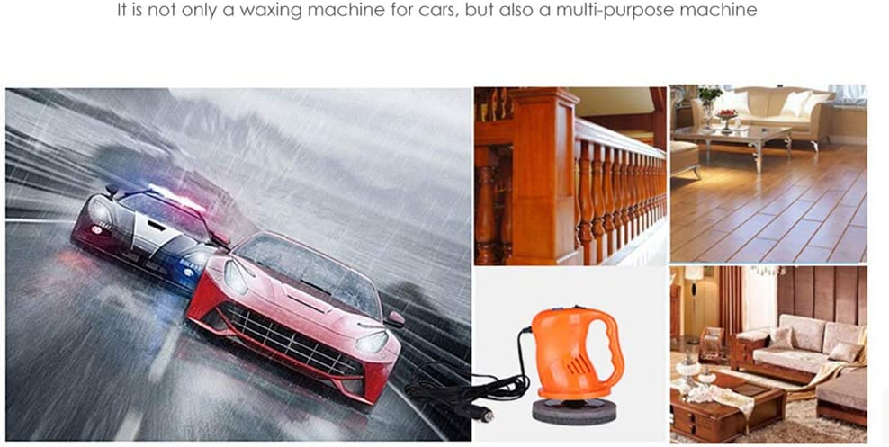 Hieefi 1 Pack Car Polisher Buffer Electric Polisher Automotive Waxer For Car Polishing And Waxing Perfect For Polishing Home Appliance Furniture Practical Car Gadget Orange