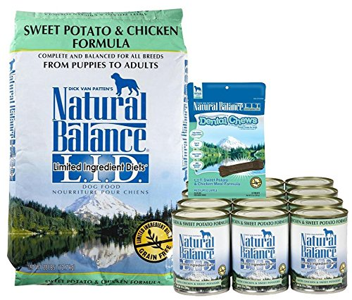 Natural Balance LID Sweet Potato & Chicken + Dental Chews Bundle