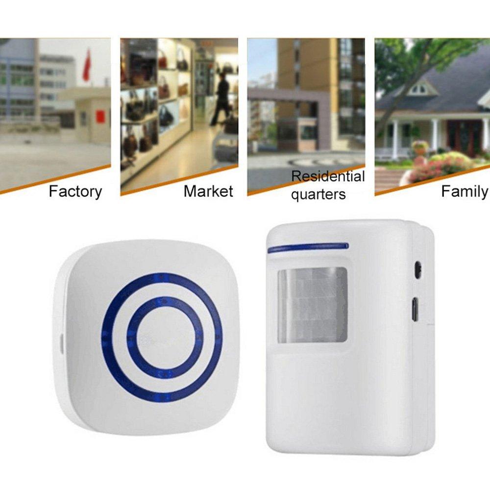 Motion Sensor Door Chime for Business, Outdoor Doorbell Kit Wireless on
