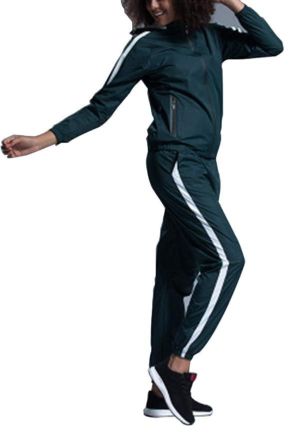 Damen Gymnastik Kleidung Set, Sauna Sweat Anzug Für