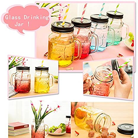 Mode TerminŽ Verre Couleur potable Jar Cup Bottle 500ml Buckdirect Worldwide Ltd.