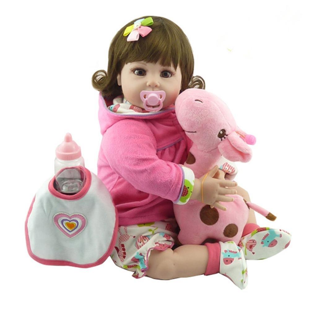 Domybest 55 cm Mode Silikon Nette Reborn Baby Puppe Kinder Playmate Geschenk Stofftiere