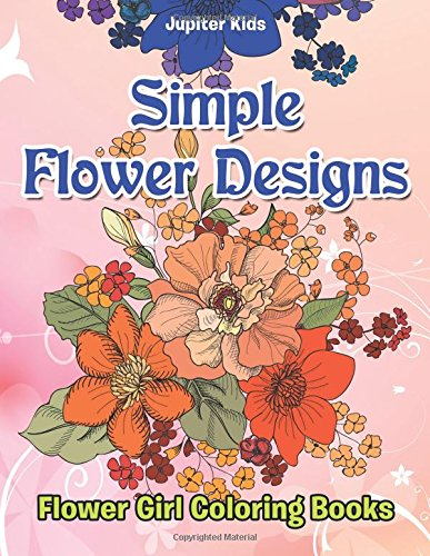 Simple Flower Designs Coloring Books