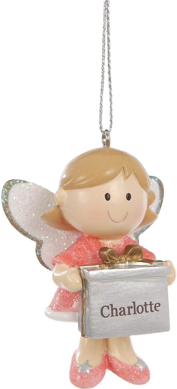 Suki Gifts 28682Ángel de algodón joyas regalo colgante con nombres Manuela, color rosa