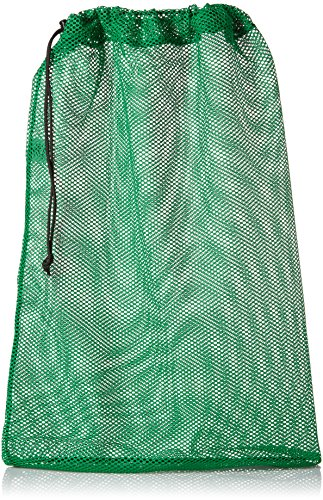 SGT KNOTS Mesh Bag USA Made (Large) 550 Paracord Drawstring Bag - Ventilated Washable Reusable Stuff Sack for Laundry, Gym Clothes, Swimming, Camping, Diving (30 inch x 40 inch - Kelly Green) -