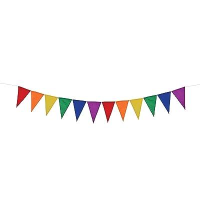 In the Breeze Rainbow Pennant String : Garden & Outdoor