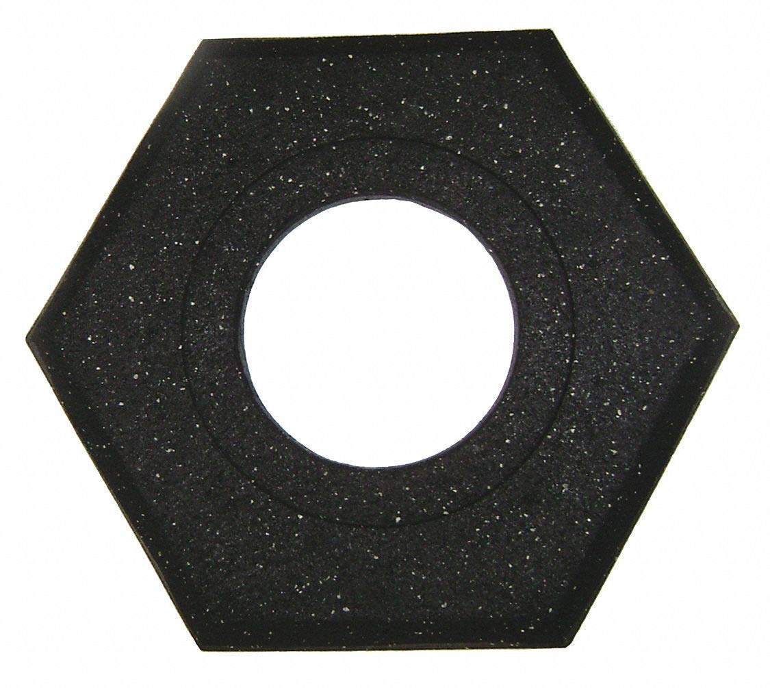 Channelizer Cone Base, Black, 17'' x 20'' x 2-1/2'', 15 lb, Recycled Rubber