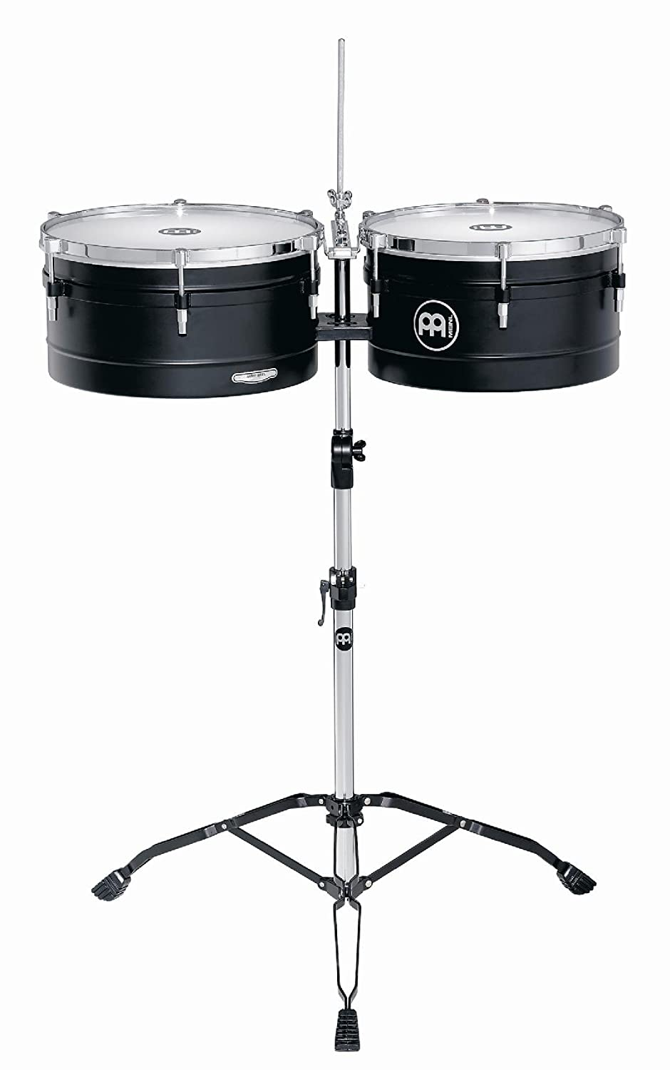 Meinl Percussion AV1BK Artist Series Steel Timbales, Black, 14-Inch and 15-Inch Meinl USA L.C.