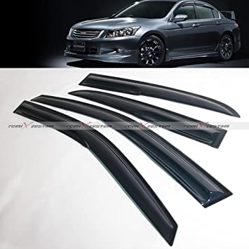 For 2003-2007 Honda Accord 4-Dr Sedan Window Visor Vent Guards Deflector Shades