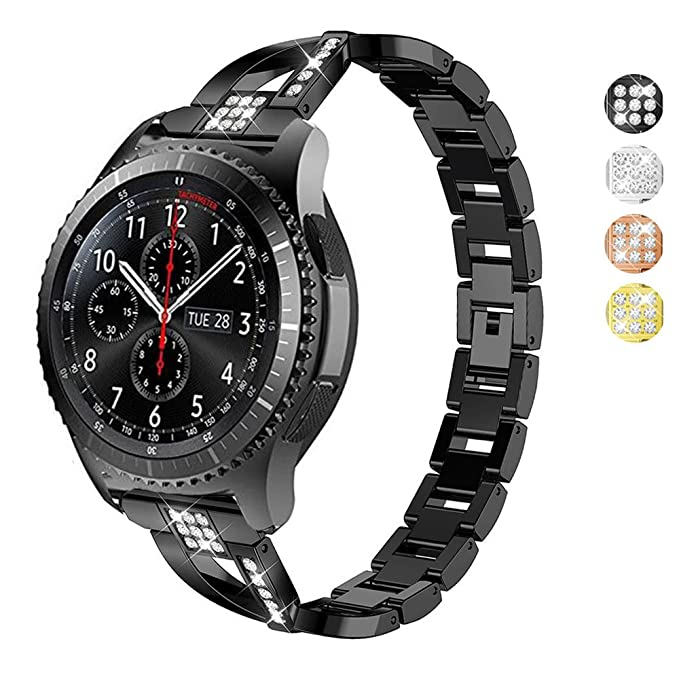 DELELE Samsung Gear S3 Frontier/Classic Band, Rhinestone ...