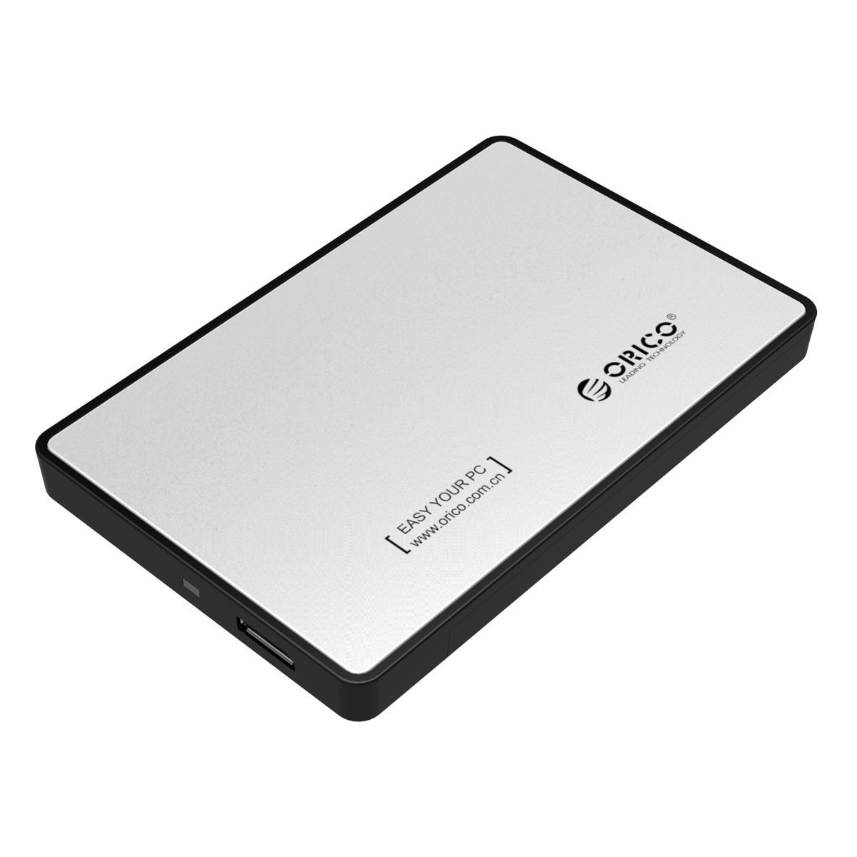 Orico 25 Inch Sata Ssd Hard Drive Enclosure Case Usb 30 For Hdd Iii Silver Computers Accessories