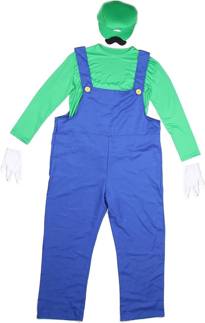 Disfraz de Super Mario Bros para hombre, estilo de los 80, talla M ...