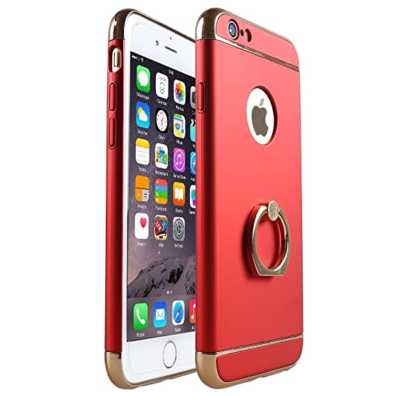 buy popular 4f688 e30a0 Black Parrot iPhone 6S Case 3 In 1 Ultra Thin and Slim Hard Case Coated Non  Slip Matte Surface with Electroplate Frame for Apple iPhone 6 (4.7