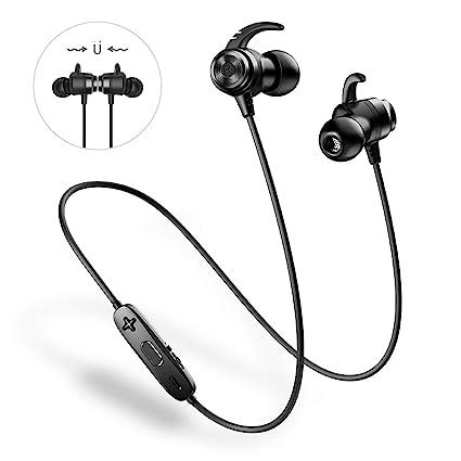ANCREU Auriculares Bluetooth 4.1 Impermeables In-Ear Auriculares Inalámbricos Deportivos Cancelación de Ruido con Micrófono