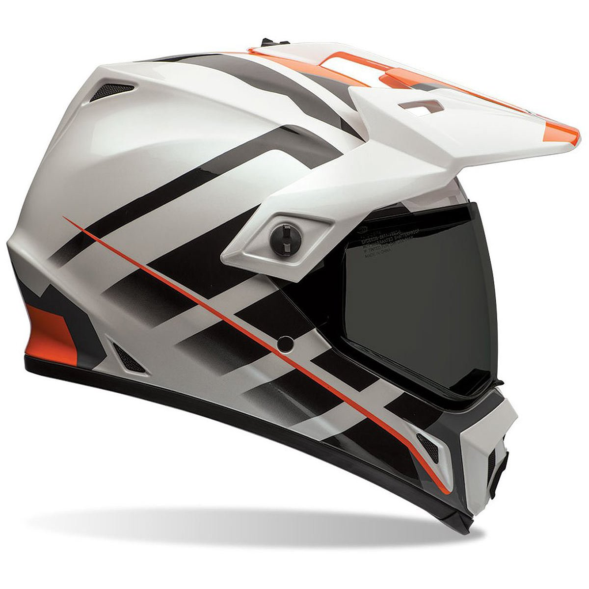 Bell Dual Sport Helmet >> Amazon Com Bell Unisex Adult Off Road Helmet Raid Orange White